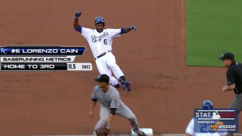 CWS@KC: Statcast tracks Lorenzo Cain's triple