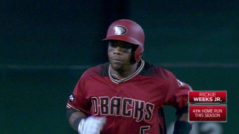 LAD@ARI: Weeks Jr. hammers a solo homer to left field