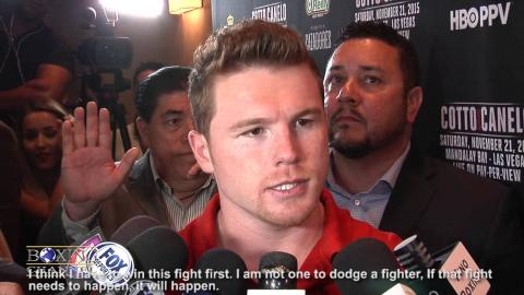 """Canelo Alvarez: """"I am always ready, boxing fans need a fight like this, a big fight""""."""