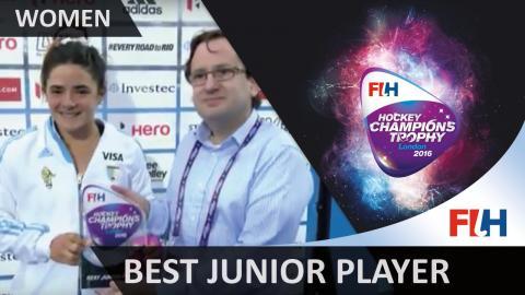 Best junior Player of the Tournament Maria Granatto #HCT2016