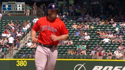 HOU@SEA: Gattis crushes a two-run homer to upper deck