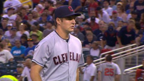 CLE@MIN: Bauer strikes out six over six-plus
