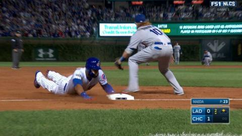 NLCS Gm1: Heyward leads off bottom of 2nd with triple