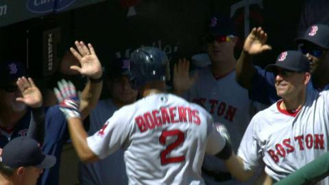 BOS@MIN: Hanley gives Red Sox the lead with a sac fly