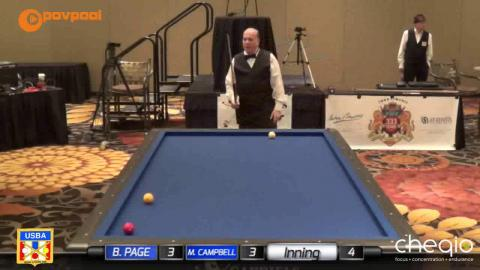 "4 • Bob PAGE vs Mickey CAMPBELL • 2017 USBA / Gabriels 3 Cushion ""B"""