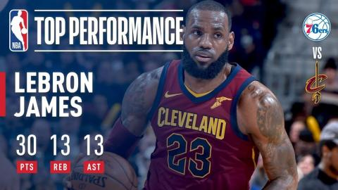 LeBron James Gets 30-Point Triple-Double in Win vs. 76ers | December 9, 2017