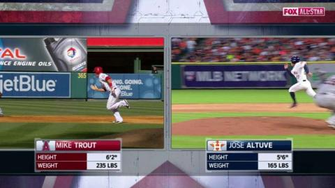 2015 ASG: Trout beats the throw to first