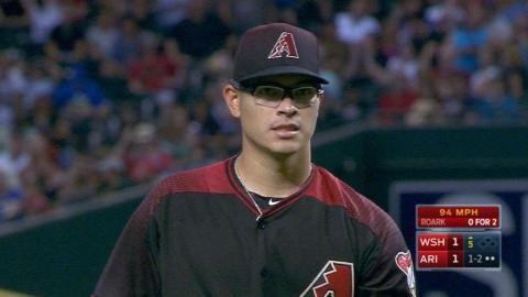 WSH@ARI: Banda fans five batters in MLB debut