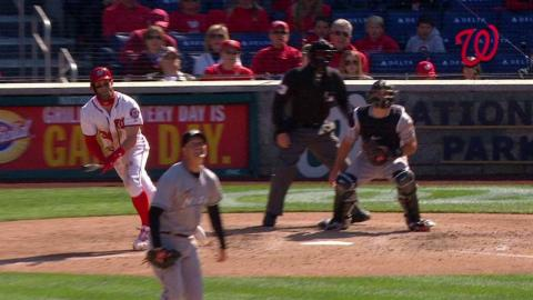 MIA@WSH: Harper drills the 100th double of his career