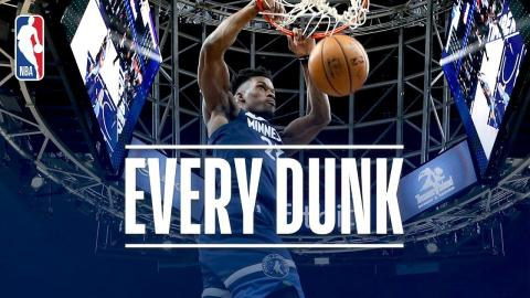 Jarrett Allen, Jimmy Butler, and Every Dunk From New Year's Day | January 1, 2018