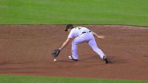 CHC@PIT: Jaso stays with the sharp grounder at first