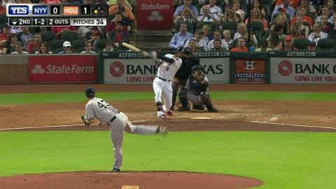 NYY@HOU: Warren strikes out Gonzalez to end the 2nd