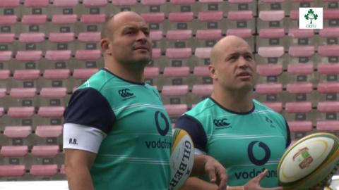 Irish Rugby TV: Rory Best At The Captain's Run