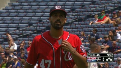 WSH@ATL: Gonzalez strikes out eight vs Braves