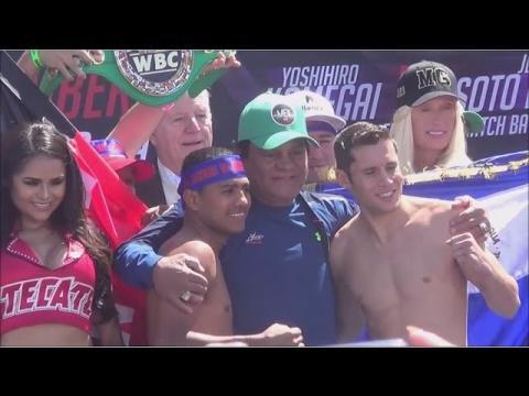 Roman Gonzalez vs Carlos Cuadras WEIGH IN FOOTAGE ! WBC World Super Flyweight Championship Fight