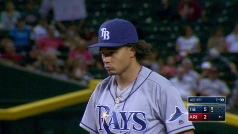 TB@ARI: Archer fans Bourn, collects 10th strikeout
