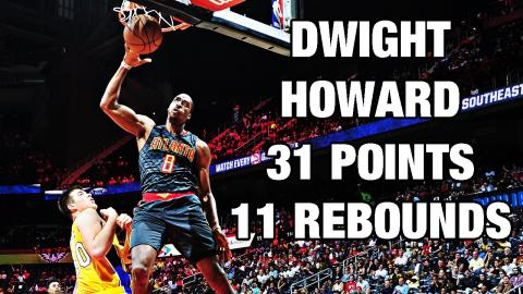 Dwight Howard Puts Up 31 Points, 11 Rebounds