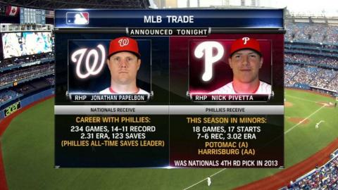 PHI@TOR: Phillies broadcast on Papelbon trade