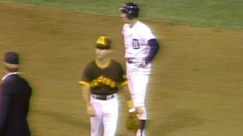 1984 WS Gm3: Trammell doubles home Whitaker in 2nd