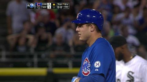 CHC@CWS: Rizzo gets double as ball is lost in lights