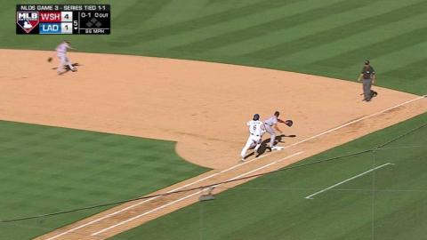 WSH@LAD Gm3: Murphy gets deflection, makes spin throw
