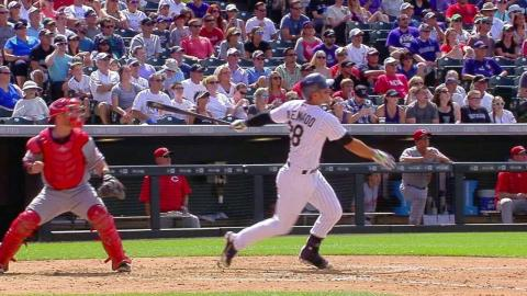 CIN@COL: Arenado gives Rockies lead with two-run shot