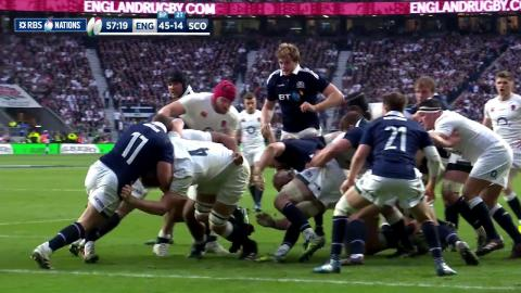 Billy Vunipola marks return to action with strong try! | RBS 6 Nations