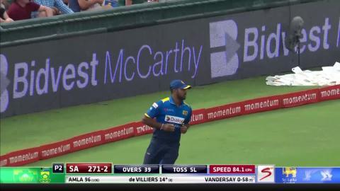 South Africa vs Sri Lanka - 5th ODI - AB de Villiers - Wicket