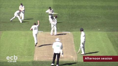 13 wickets fall on day one of Durham v Somerset