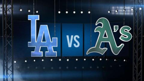 8/19/15: A's limit Dodgers to two hits in 5-2 victory