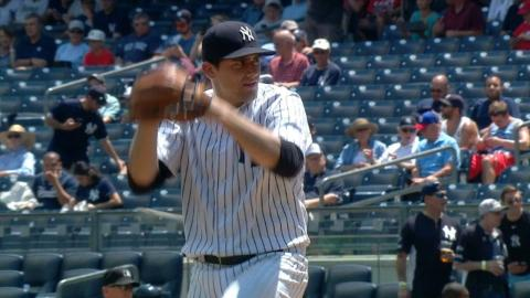 WSH@NYY: Eovaldi fans four Nationals in no-decision