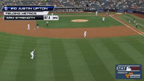 COL@SD: Upton nails runner at home with 87 mph throw
