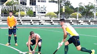 Field Hockey Australian Mens Short Corner Training Session