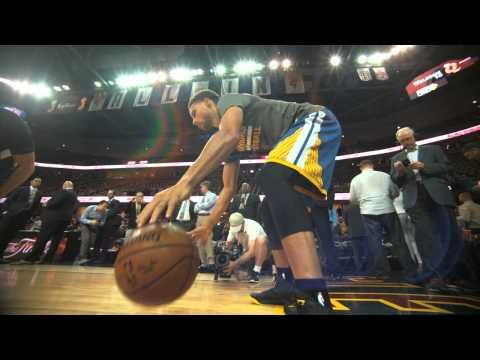 NBA Finals 2015 Phantom Raw: Steph Curry Pre-Game