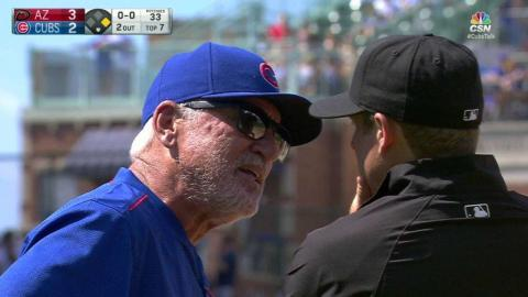 ARI@CHC: Maddon gets tossed after arguing a call