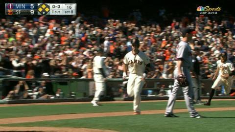 MIN@SF: Giants score five runs in the 8th inning