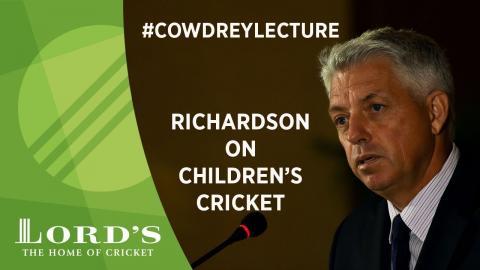 David Richardson On Cricket Children 2018 Mcc Spirit Of Cricket Cowdrey Lecture