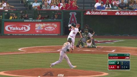 OAK@LAA: Calhoun launches a solo home run to right