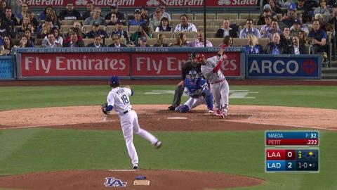 LAA@LAD: Petit puts the Angels on the board