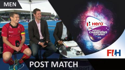 BEL 4-3 KOR FT Belgium captain John-John Dohmen reviews their great comeback #HCT2016