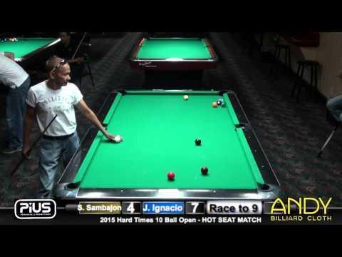 PT 2 HOT SEAT - Jeffrey Ignacio vs Santos Sambajon - #3 - 2015 HT 10-Ball Open