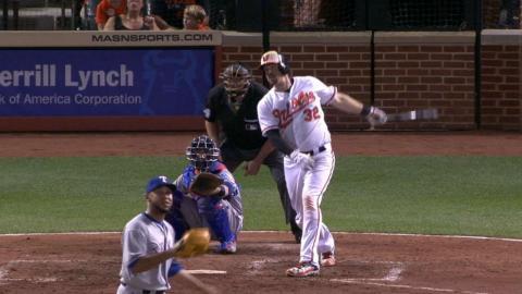 TEX@BAL: Alvarez, Wieters belt back-to-back home runs