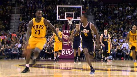LeBron James Leads Cavs Over the Jazz