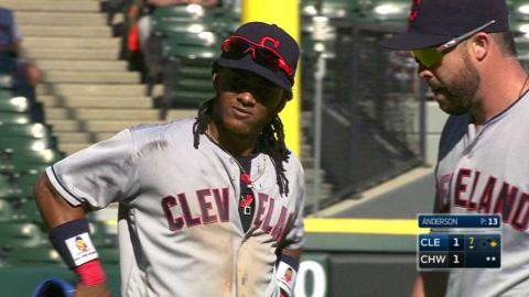 CLE@CWS: Indians complete double play after challenge