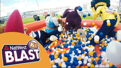 Battle Of The Beasts: Team Mascots Race Each Other Around The Pitch - NatWest T20 Blast 2017