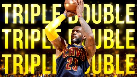 LeBron James' 5th Career Finals Triple-Double Ties Series