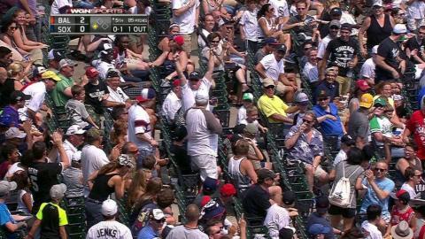 BAL@CWS: Jones loses grip, bat flies into the stands