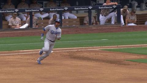 LAD@SD: Ethier finds the gap for a two-out triple