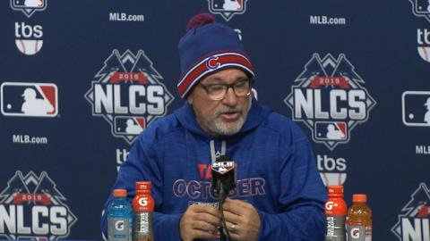 NLCS Gm1: Maddon talks Harvey, Game 1 loss to Mets