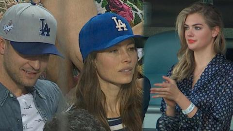 WS2017 Gm2: Celebrities enjoy WS at Dodger Stadium